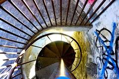 Spiral Staircase. (primalpicture) Tags: graffiti exploration picture rurex urbex staircase