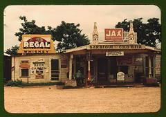 Frenchies Beer Garden, Melrose, Louisiana, June 1940. (michaeldonovan22) Tags: frenchiesbeergarden melroselouisiana june1940 1940 marionpostwolcott photographer usofficeofwarinformation found safe color kodachrome michaeldonovan michaeldonovan22
