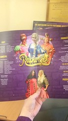 Rapunzel programme (Elysia in Wonderland) Tags: rapunzel joe purdy panto pantomime production programme leaflet lisa hart fairy kind yvonne patterson horabella witch princess paige cook cooke robert squire dame penelope pepperpot gash prince benjamin bay danny matthew chester jester
