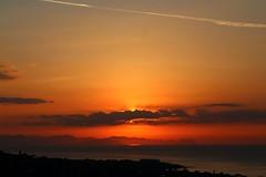 no words (dimatteoeleonora) Tags: cefalù sicilia sicily flickrdiamond home sunset tramonto love landscape sky skyporn skyscape plane italy incrediblenature nature natura blu blue red rosso shape peace country