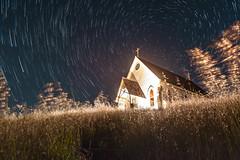 Old St. Hillary Night (Matt McLean) Tags: astrophotography bayarea building california chapel church exterior landscape longexposure night nightexposure nightsky nightscape northstar polaris startrails stars