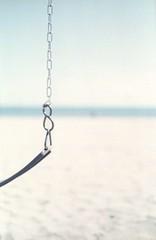 Swing (Wide Open) (edwardconde) Tags: lifeguard film minolta c200 x570 fujicolor200 california santabarbara c41 carpinteria self processed aristac41kit