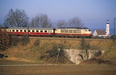 Dinkelscherben, Februar 1989 (Atze auf Achse) Tags: db 103 e03 ulmaugsburg intercity ic