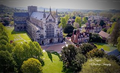 Winchester Cathedral. (Albatross Imagery) Tags: cathedrals cathedral ancienthistory historical history landscapephotography landscape flickr instagram phantom4pro djiphantom4pro dji dronephotography drone england uk hampshire winchester winchestercathedral