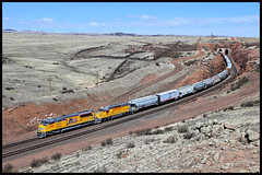 UP 3027 (golden_state_rails) Tags: up union pacific hermosa wy wyoming laramie subdivision overland route sd70aht4 tier iv sd40n emd