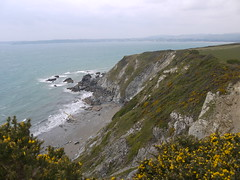 View From The Gribbin (Worthing Wanderer) Tags: grey coast spring cornwall cloudy path windy cliffs april dull polkerris southwestcoastpath