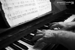 08 (Karel Navratil) Tags: bw white playing black project hands elise piano week weeks 52 fr 52weeks frelise