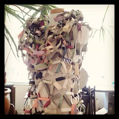 paper chain mail dress at lunalux (mamichan) Tags: friends minneapolis crafty instagram flickrandroidapp:filter=none