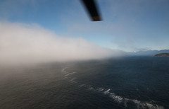20130506D8E_3180 (cisco42) Tags: ocean trees summer canada sunshine fog forest coast britishcolumbia shoreline rocky vancouverisland northamerica saltwater canadiancoastguard messerschmittboelkowblohmmbbbo105 lightstation2013