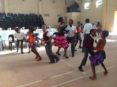 Dancers at the Smutsville Primary School