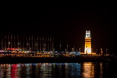 Lighthouse in Qingdao Olympic sailling base, (lacily) Tags: china lighthouse seaside nightview  qingdao