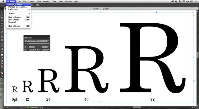 Automatic Multiple Master optical sizing in InDesign