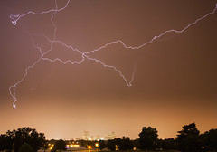Denver lightning (Kevin Bauman) Tags: storm night colorado denver lightning storms citypark