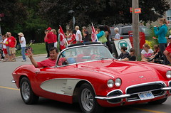 Michael cruises through the Glen Williams Canada Day parade