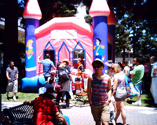 Bouncy house with figures