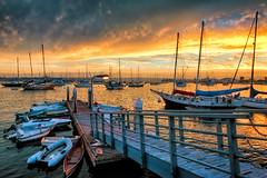 San Diego Bay All Lit Up (mojo2u) Tags: california sunset bay sandiego harbordrive sandiegoharbor nikon2470mm sdharbor nikond700