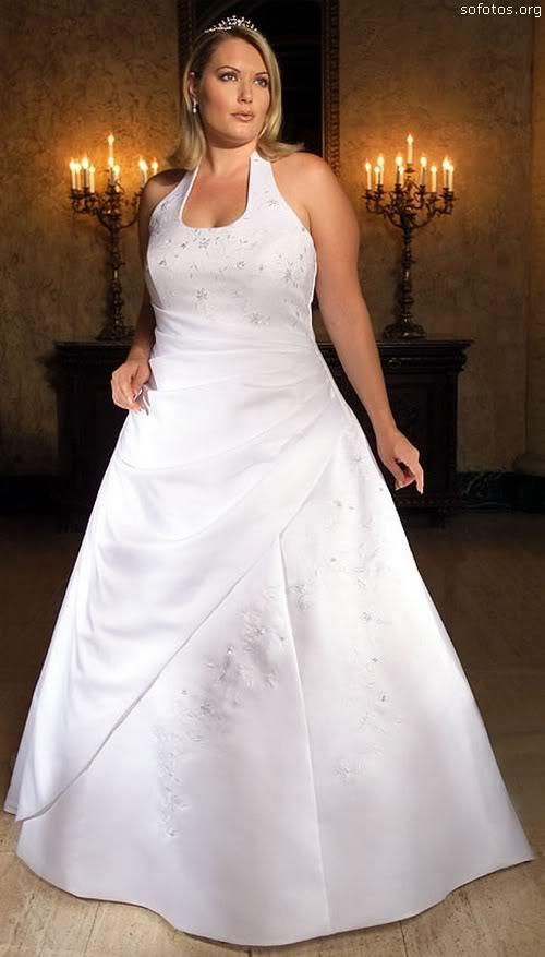 Vestido de noiva para gorda