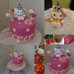 Hello-Kitty-Torte (michistortis) Tags: hello cake hellokitty kitty torte fondant michis tortis modellieren michistortis