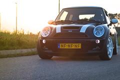 MINI Cooper S 2003 (Martin de Witte) Tags: sunset black car grid inch nederland mini cooper 17 coopers zwart leeuwarden rota bmwmini
