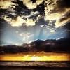 Sunset, Bergen aan Zee (Paulus Veltman) Tags: sunset beach square divine squareformat rays hefe bergenaanzee iphoneography instagramapp uploaded:by=instagram