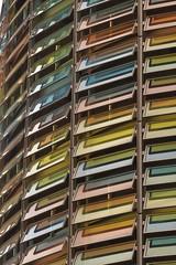 colourful parking garage (farlukar) Tags: berlin glass garage parking coloured clolours grunerstrasse grunerstrase thistagwantsyoutobelieveaparkinggarageisnotadullbuilding