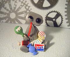sugar Rush Robot (Sleepy Robot 13) Tags: cute robot diy handmade robots polymerclay fimo comicbook kawaii sculpey etsy urbanvinyl marvel sculpting smallbusiness sleepyrobot13 polymerclayurbanvinylsleepyrobot13etsysilvercraftcraftscraftingsculptingsculpturefigurinearthandmadecraftshowcutekawaiirobots