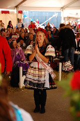 The Queen getting her dance on (radargeek) Tags: oklahoma festival czech yukon fest ok chickendance 2013 czechfest