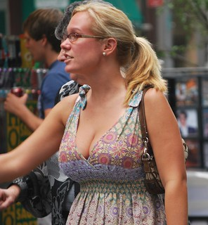 Candid cleavage busty photo 732