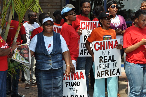 South Africa: China Global Fund Protest (10/29/13)