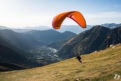 Jrme Deschamps - Chamonix  Damien Deschamps (Damien DESCHAMPS) Tags: sunset mountains nature landscape fun flying wings nikon action chamonix paysages montblanc d800 parapente chx
