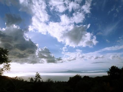La vue depuis la yourte, Megali Mantineia, Grèce