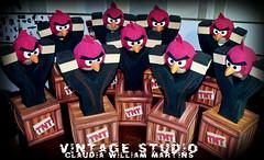Angry Birds. (Vintage Studio. Artes Plsticas e E.V.A.) Tags: birds eva angry angrybirdsparty angrybirdsfesta angrybirdsdecorao