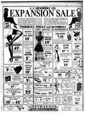 newberrys 5&10 cent store 1940 albany ny 1940s  pre-WW II (albany group archive) Tags: newberrys 510 cent store 1940 albany ny 1940s preww ii downtown no north pearl st oldalbany history