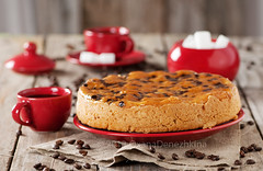 Cake with chocolate (Oxana Denezhkina) Tags: party summer food brown white home beautiful cake closeup fruit dark pie table dessert cuisine berry sweet chocolate background decoration cream mint tasty plate nobody fresh gourmet made delicious slice pastry baked torte calories