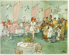Jan Sanders T kan verkeren ill p 27 kraambezoek (janwillemsen) Tags: cartoon sailors 1978 bookillustration jansanders