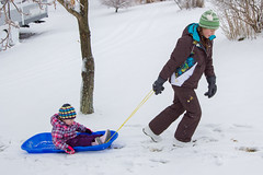 Sled Riding 2013-20 (TheDarrenSharp) Tags: winter evelyn mackie 3yearsold sledriding