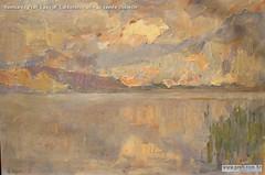 Romualdo Prati Lago di Caldonazzo olio su tavola 25x36cm