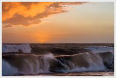 Sole Saluta le Onde (Paolo Avezzano) Tags: sunset sea italy water silhouette backlight clouds tramonto nuvole mare tuscany backlit toscana sole acqua livorno controluce onde leghorn maltempo terrazzamascagni 70200mmf28 nikond300 paoloavezzano