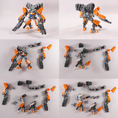 Cerberus Breakdown (SageThe13th) Tags: scale mobile robot lego micro frame zero mecha mech mfz mf0