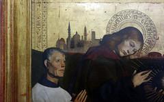 Pietà of Villeneuve-lès-Avignon, detail with distant city c. 1455