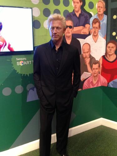 Boris Becker - Boris Becker figure at Madame Tussauds