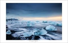 Diamond of Jokulsarlon (Emmanuel DEPARIS) Tags: seascape ice beach seaside sand diamond iceberg emmanuel islande diamand icelande deparis