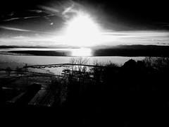 Burlington, VT Waterfront (B&W) v.1 (MrRomano) Tags: sunset lake mountains ice burlington canon romano champlain adirondack vt lakechamplain frozenlake adirondackmountains 802 burlingtonvt burlingtonvermont lawrenceromano joeromano