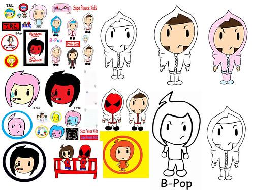 Spwk B Pop Halloween Art Hoody Pink Hoodies Pee Wee Chibi