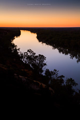 Murray River (john white photos) Tags: tree water warning reflections river australian australia calm gumtre