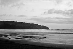 Pangandaran (Fajar Pangestu) Tags: ocean sea sky bw white black beach nature monochrome beautiful clouds indonesia landscape blackwhite interesting sand nikon ngc westjava nikkor nationalgeographic 35mmf25e oldlens nikond3000