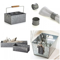Galvanized Picnic Storage (Heath & the B.L.T. boys) Tags: box metal galvanized organize chalkboard label fork spoon knife utensils