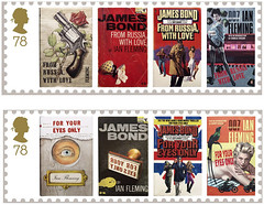 Britische Post verˆffentlicht Briefmarken mit James Bond-Motiven Geheimagent zum Kleben (SilviaMaja) Tags: briefmarken james ianflemming post kultur grosbritannien literatur jamesbond london grofbritannien