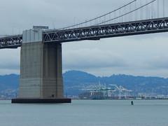 Central Anchorage of the Bay Bridge and the Port of Oakland (Rubén HPF) Tags: bay bridge oakland san francisco yerba buena tunnel