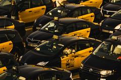 Barcelona (Yuriy Ogarkov) Tags: barcelona photographer spain yuriyogarkov bcn taxi taxis streetlife streetphotography travel travelphotography ogarkov documentaryphotography barcelonadocumentaryphotographer yellow horizontal